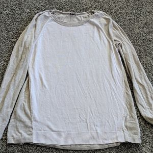 Gap cotton pink and grey sweater